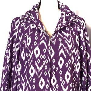 Zenergy By Chico's Size 2 Purple Zip Up Jacket